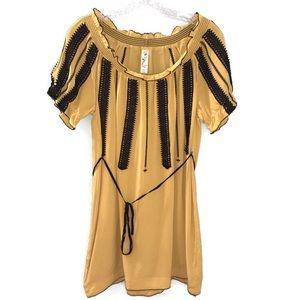 Floreat Anthropologie Scoop Neck Ruffle Mini Dress